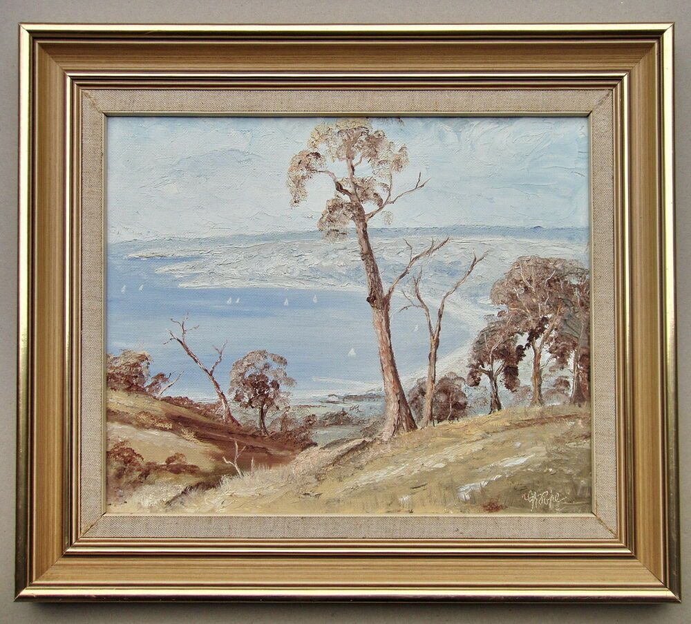 New Jersey Home Painting From J S Painting: J.R.Pope Bay Scene Framed Oil Painting