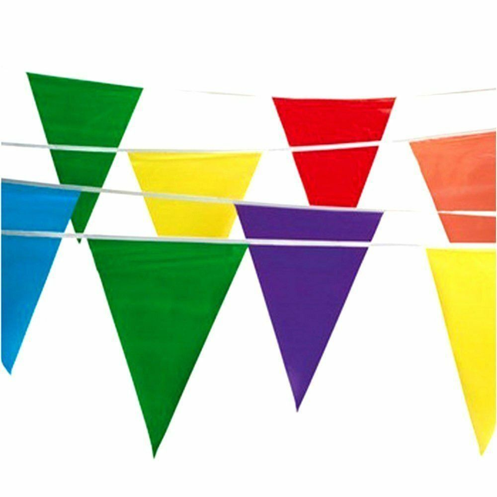 100ft multicolor birthday party flag pennant banner garland decoration supplies ebay