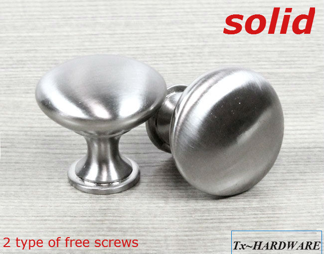 brushed nickel kitchen cabinet knobs 24mm small solid ss brushed nickel finish kitchen cabinet 12580