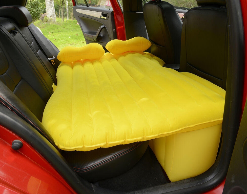Inflatable Seat Cushion >> Heavy Duty Car SUV Travel Inflatable Mattress Back Seat Camping Air Bed w Pump | eBay