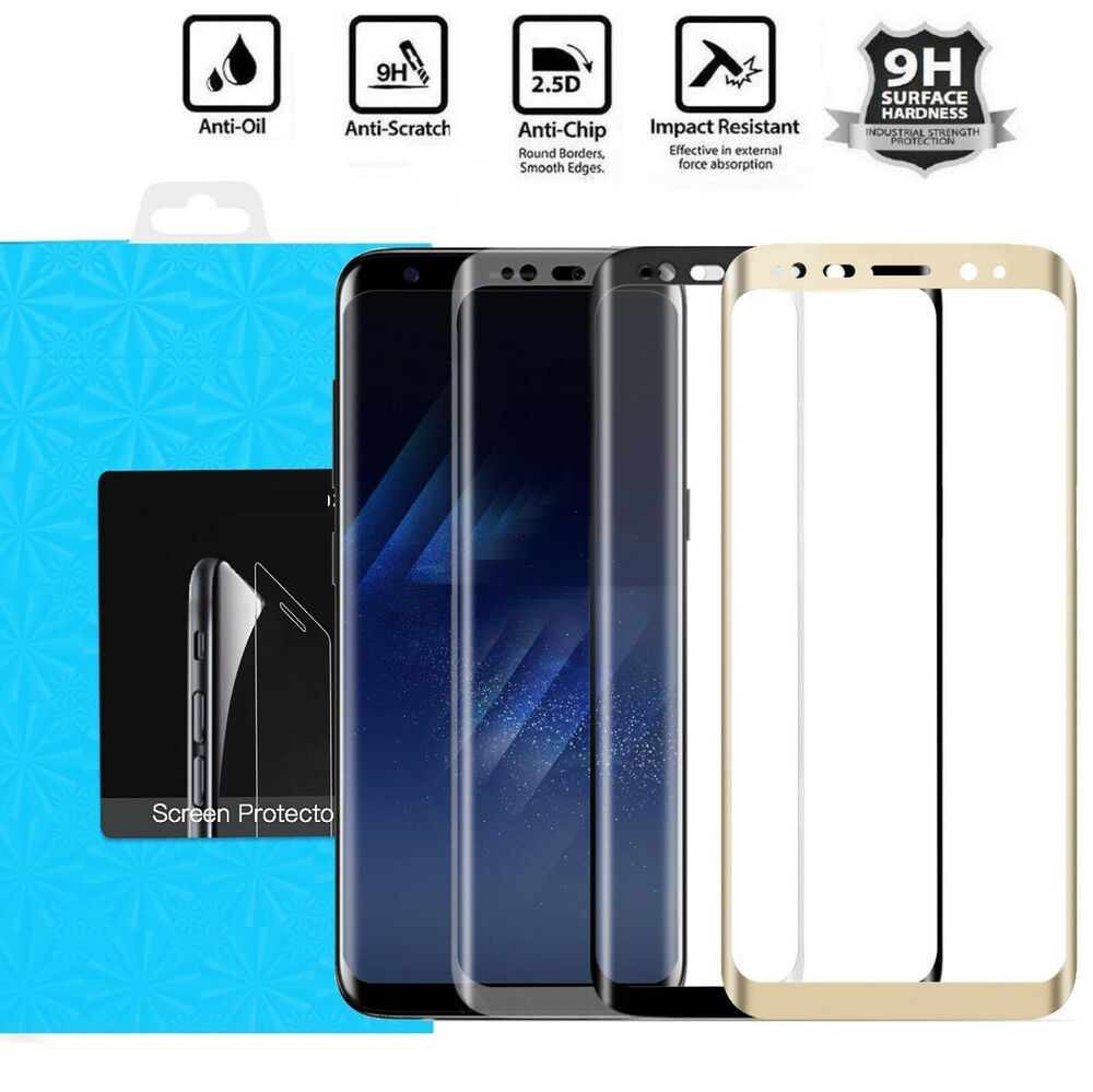full cover tempered glass screen protector for samsung galaxy s8 s7 s6 edge plus ebay