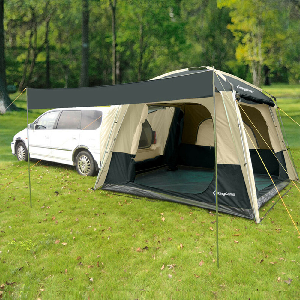 kingcamp 5 person 3 season suv tent for camping multipurpose roomy waterproof ebay. Black Bedroom Furniture Sets. Home Design Ideas