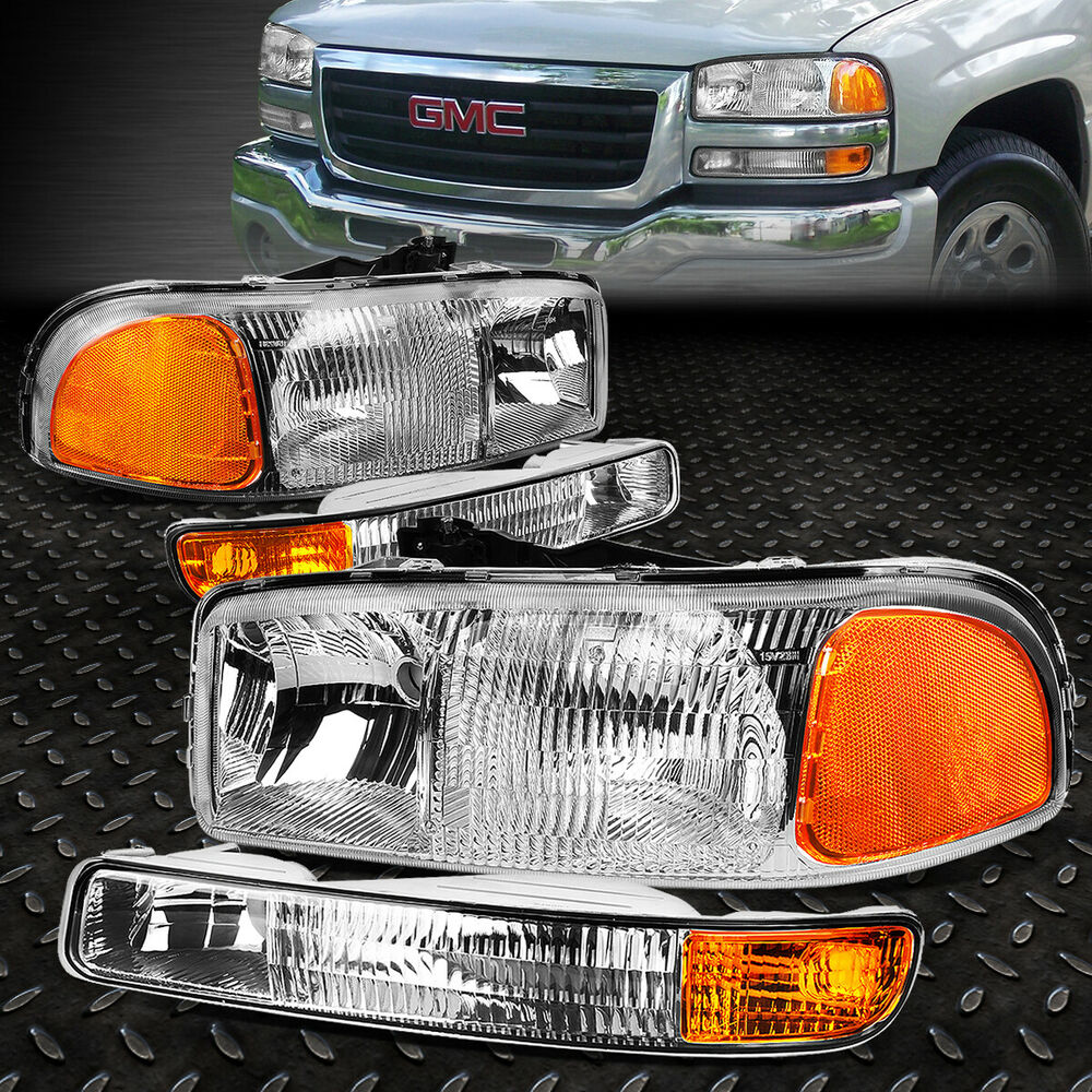 Headlights Assembly Shop: CHROME HOUSING OE/OEM HEADLIGHT+BUMPER LIGHT ASSEMBLY FOR