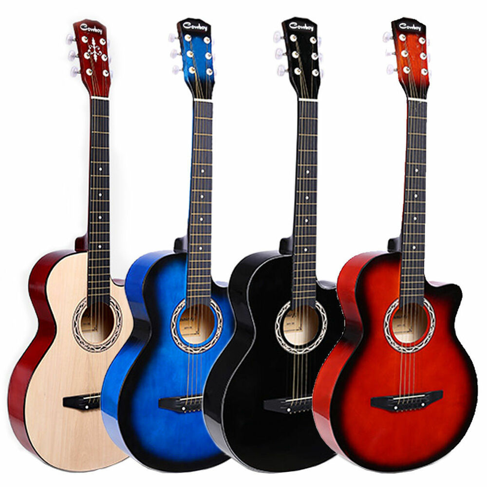 6in1 acoustic classic guitar package 3 4 size 38 beginner student adult uk ebay. Black Bedroom Furniture Sets. Home Design Ideas