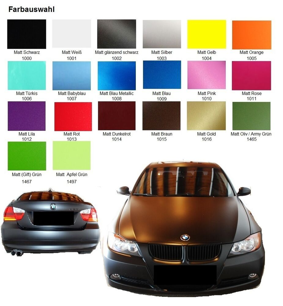 premium autofolie matt luftkan le car wrap auto folie blasenfrei selbstklebend ebay. Black Bedroom Furniture Sets. Home Design Ideas