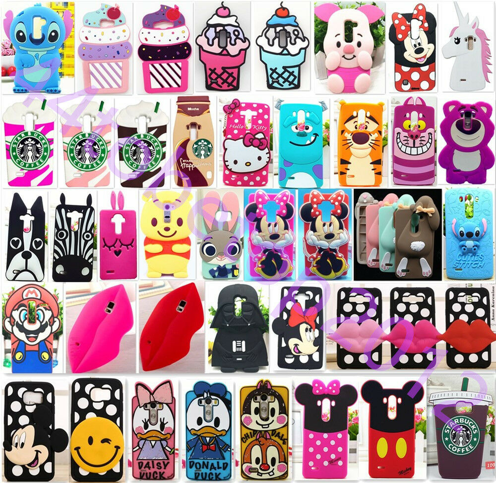 ... Silicone Rubber Soft Cute Case Cover for LG G3/4/5 K7/10 G4+ UK : eBay