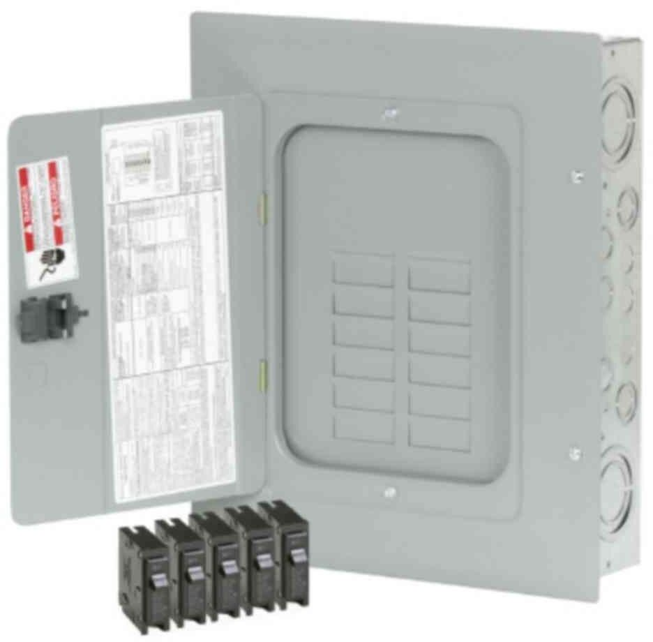 Circuit Breaker Box Cover Decorative Decorative Electrical: 125-Amp 12-Space 24-Circuit BR Main Lug Load-Breaker