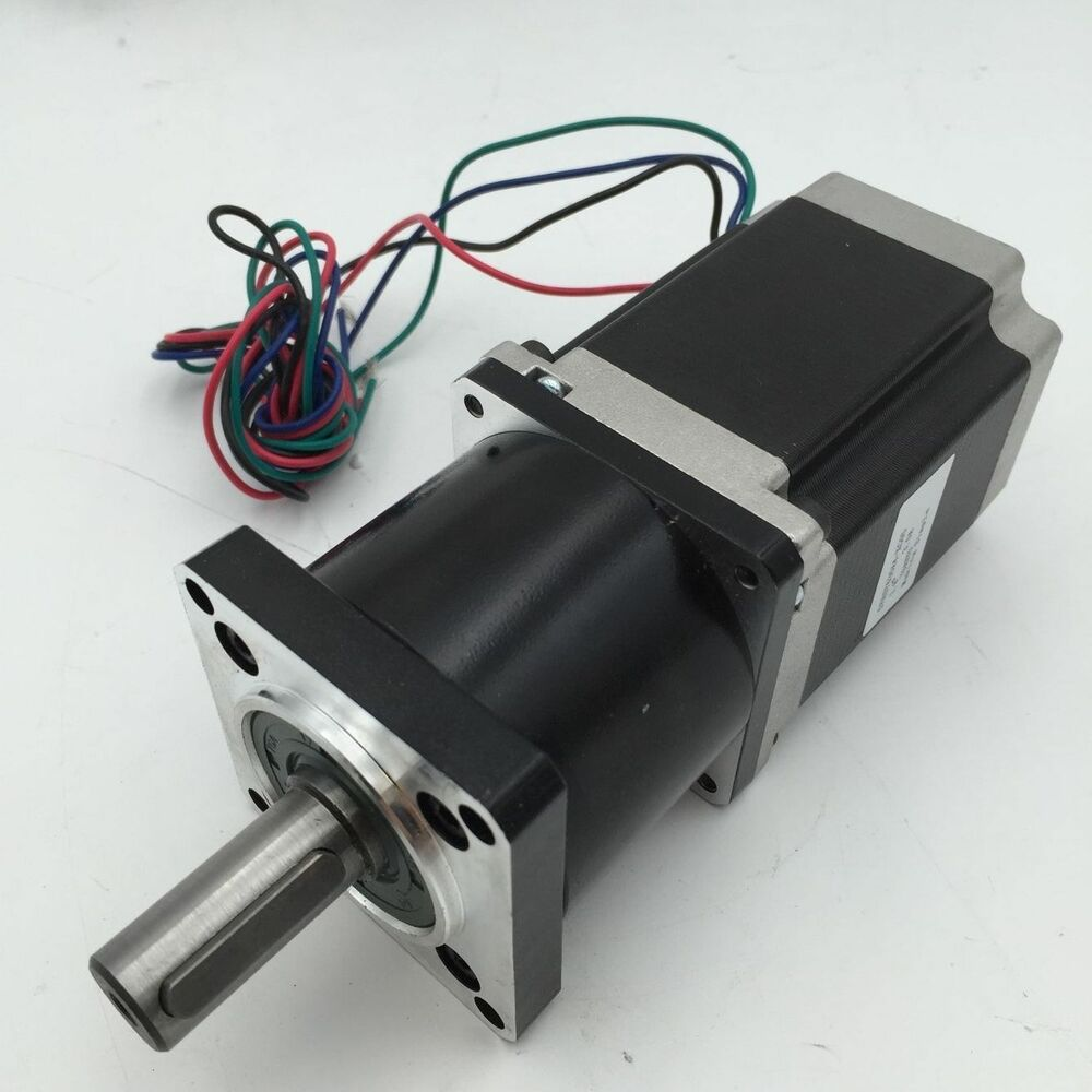 Nema23 stepper motor l76mm planetary gear ratio 5 1 10 1 for Stepper motor gear box