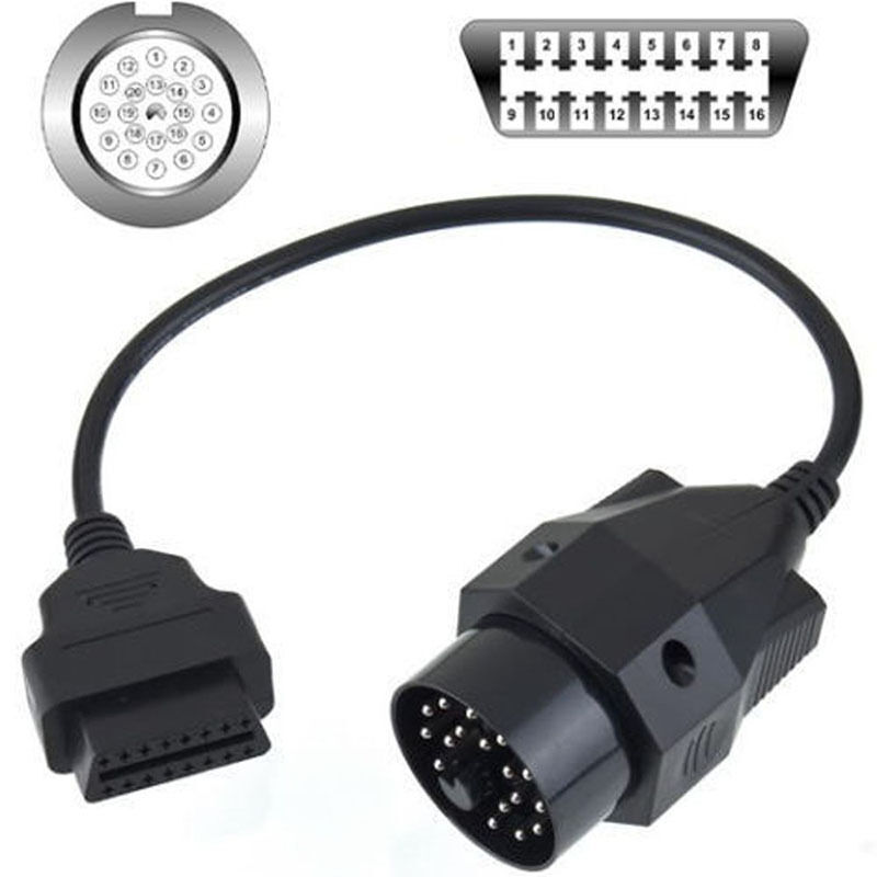 20 to 16 pin scanner cable adapter for bmw obd2 scan e36. Black Bedroom Furniture Sets. Home Design Ideas