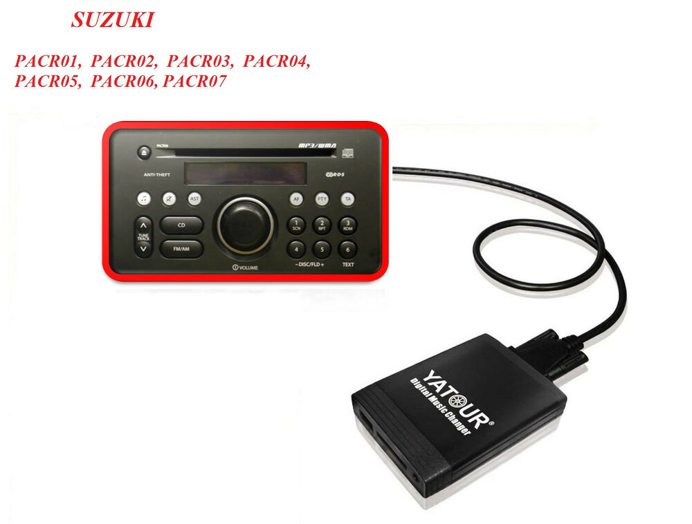 usb sd aux adapter vw cd wechsler mp3 suzuki sx4 swift. Black Bedroom Furniture Sets. Home Design Ideas