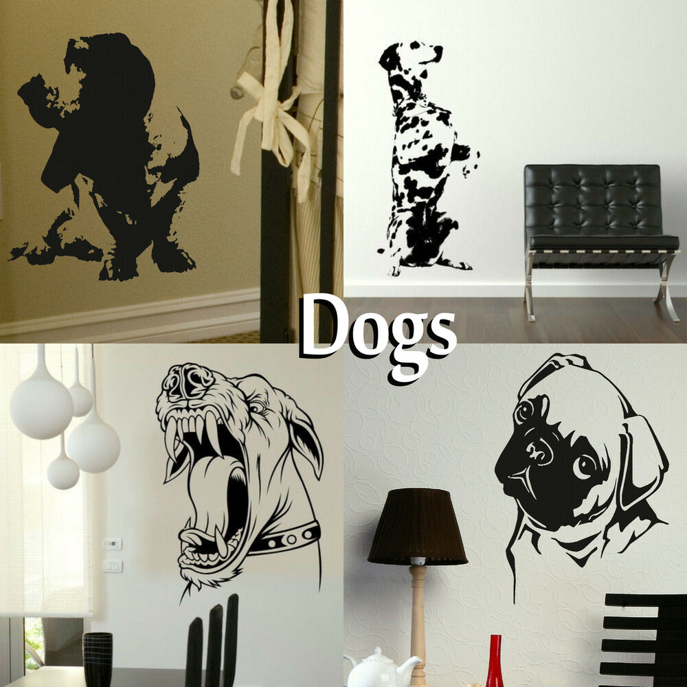 Wall Art Transfer Stickers : Dog wall stickers transfer graphic decal decor canine