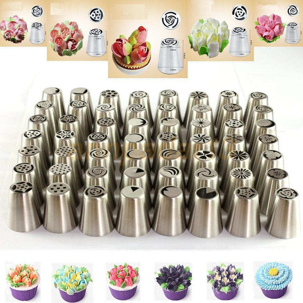 Decorating 101: 56 Pcs Russian Flower Icing Piping Nozzles Cake Decoration