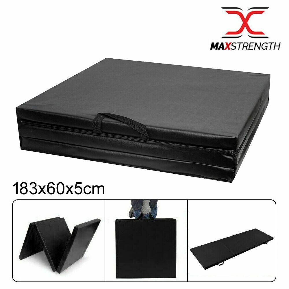 "2"" Thick Soft Folding Panel Gymnastics Mat GYM Yoga"