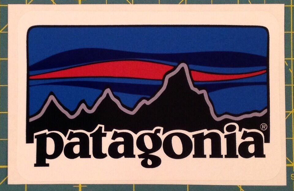 Patagonia retro color sticker decal fishing hiking camping for Patagonia fish sticker