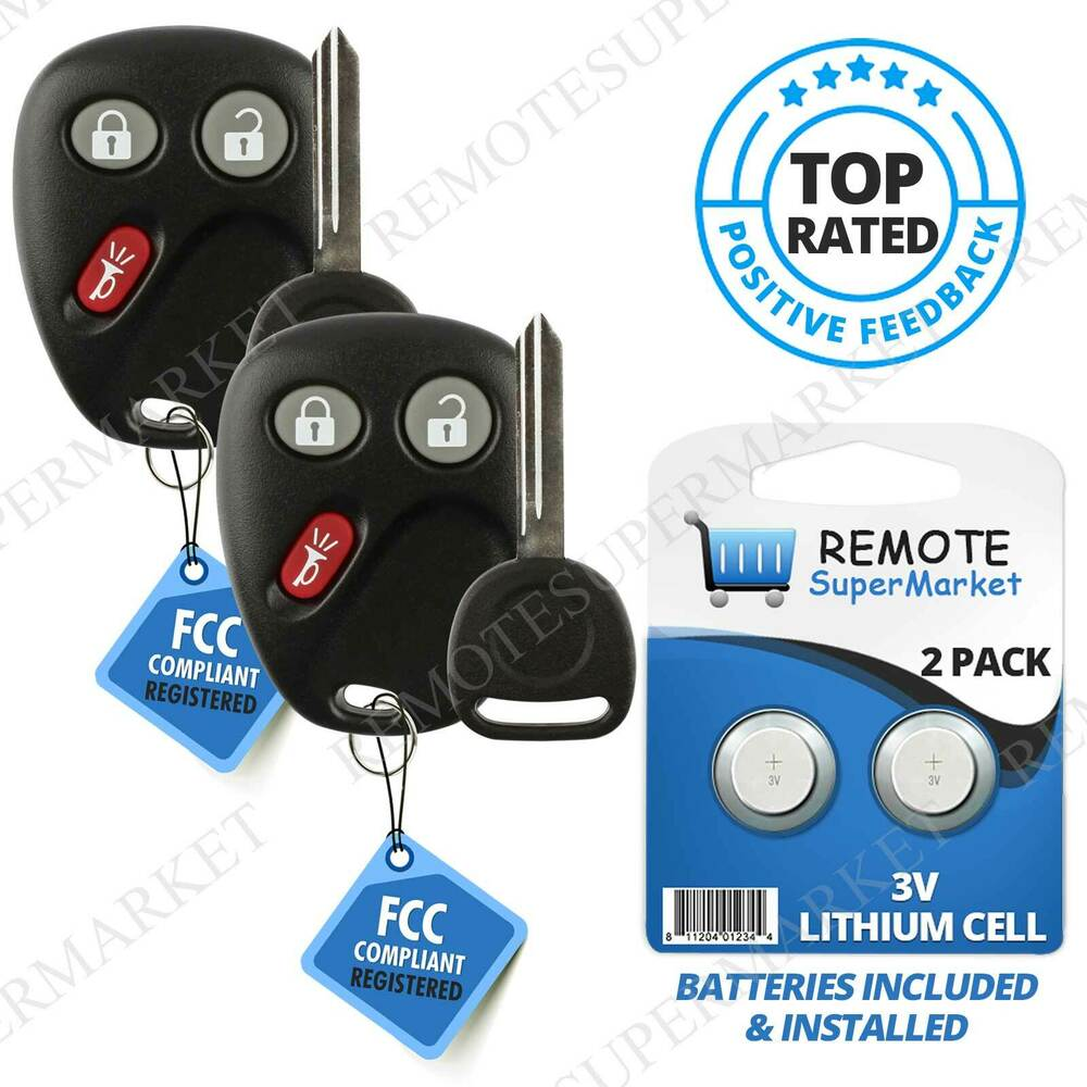 2 Replacement for 2003 2004 2005 2006 Chevy Avalanche Tahoe Remote Key Fob Set | eBay