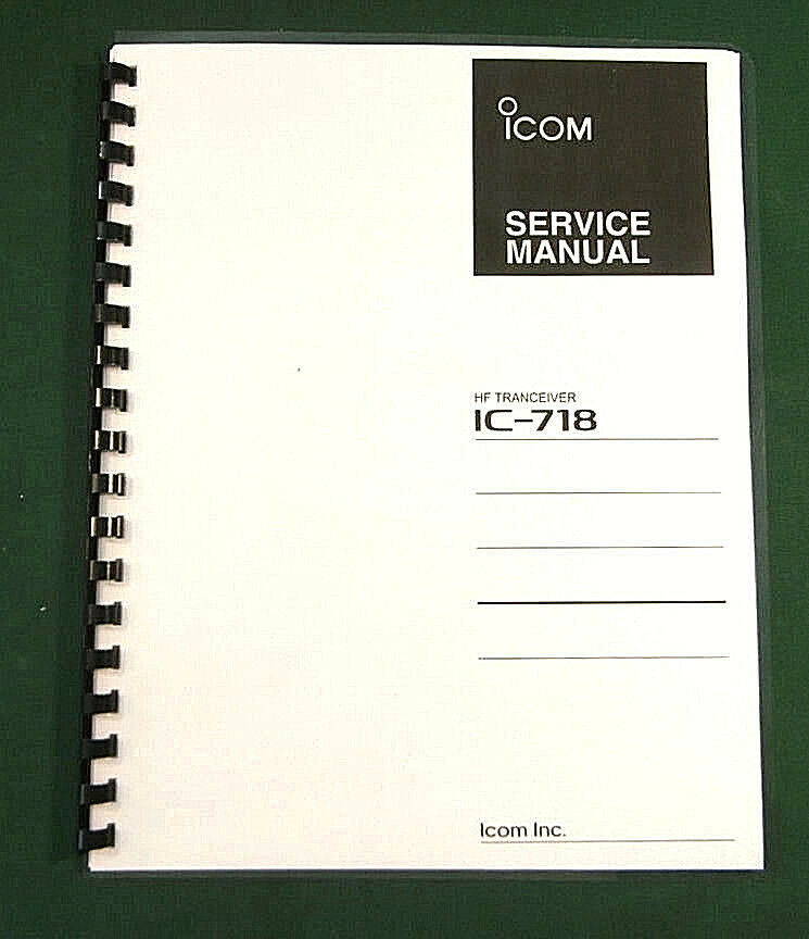icom ic 718 service manual with 11 quot  x 17 quot  color board layouts  ebay icom ic-718 user manual icom ic 718 manual download