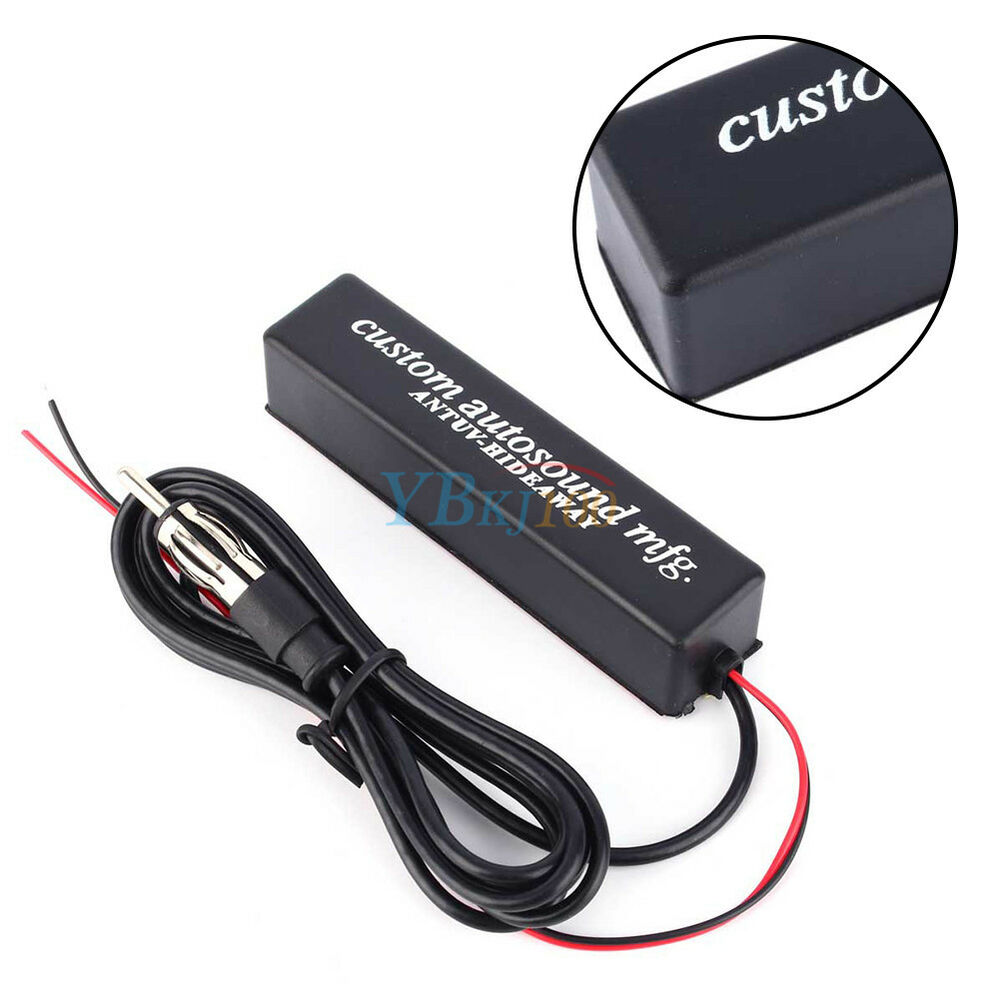 12v universal car stereo radio electronic hidden antenna aerial fm am amplified ebay. Black Bedroom Furniture Sets. Home Design Ideas
