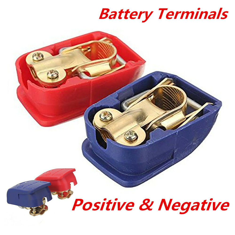 Quick Release Battery Terminals Clamps 12v Pair Car