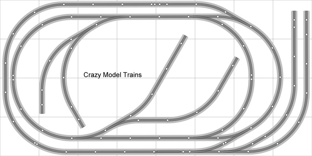 layout  006 bachmann ho ez track  ns  nickel silver - 4 u0026 39  x 8 u0026 39  new