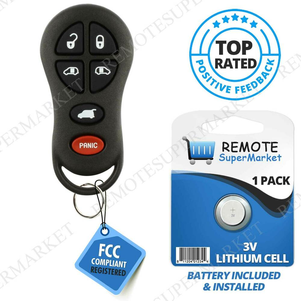 replacement for 2001 2002 2003 chrysler town country voyager remote car key fob ebay. Black Bedroom Furniture Sets. Home Design Ideas
