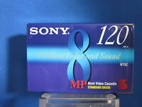 Sony MP Standard Grade 120 Sealed 8mm Blank Tapes