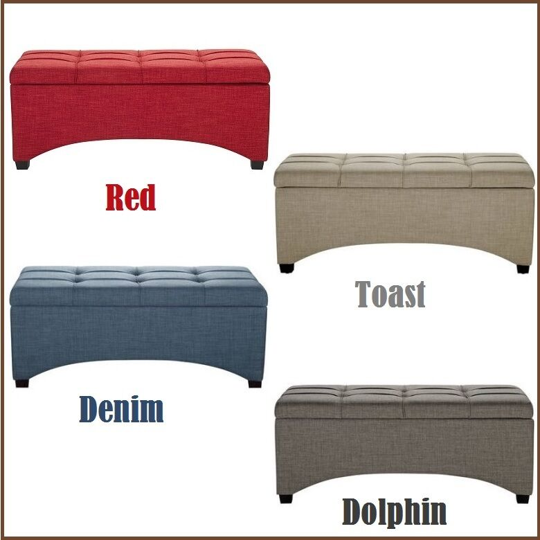 End of bed bench storage ottoman seat hallway furniture for End of bed chair
