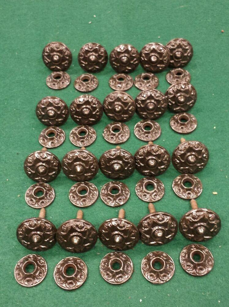 20 Antique Eastlake Cast Iron Cabinet Knobs Pulls With