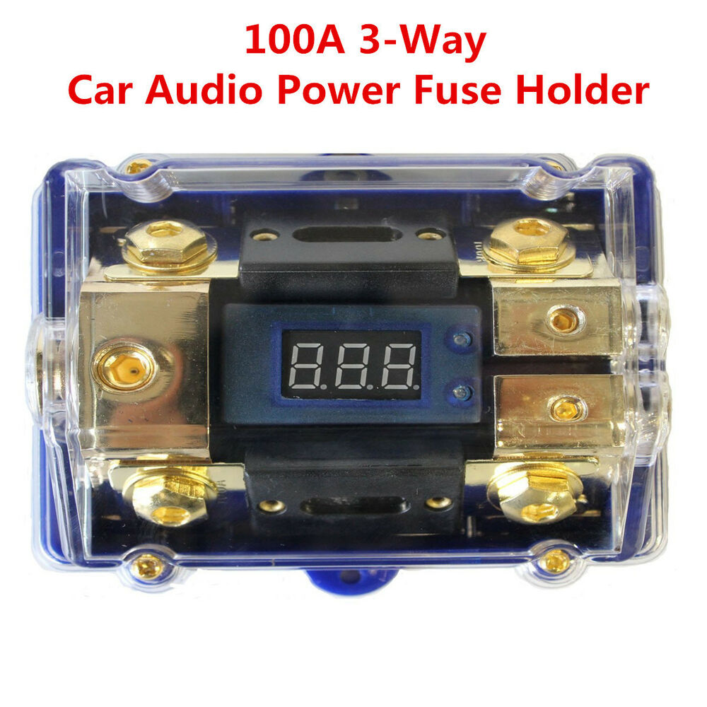 3 way 100a car audio power fuses holder stereo. Black Bedroom Furniture Sets. Home Design Ideas