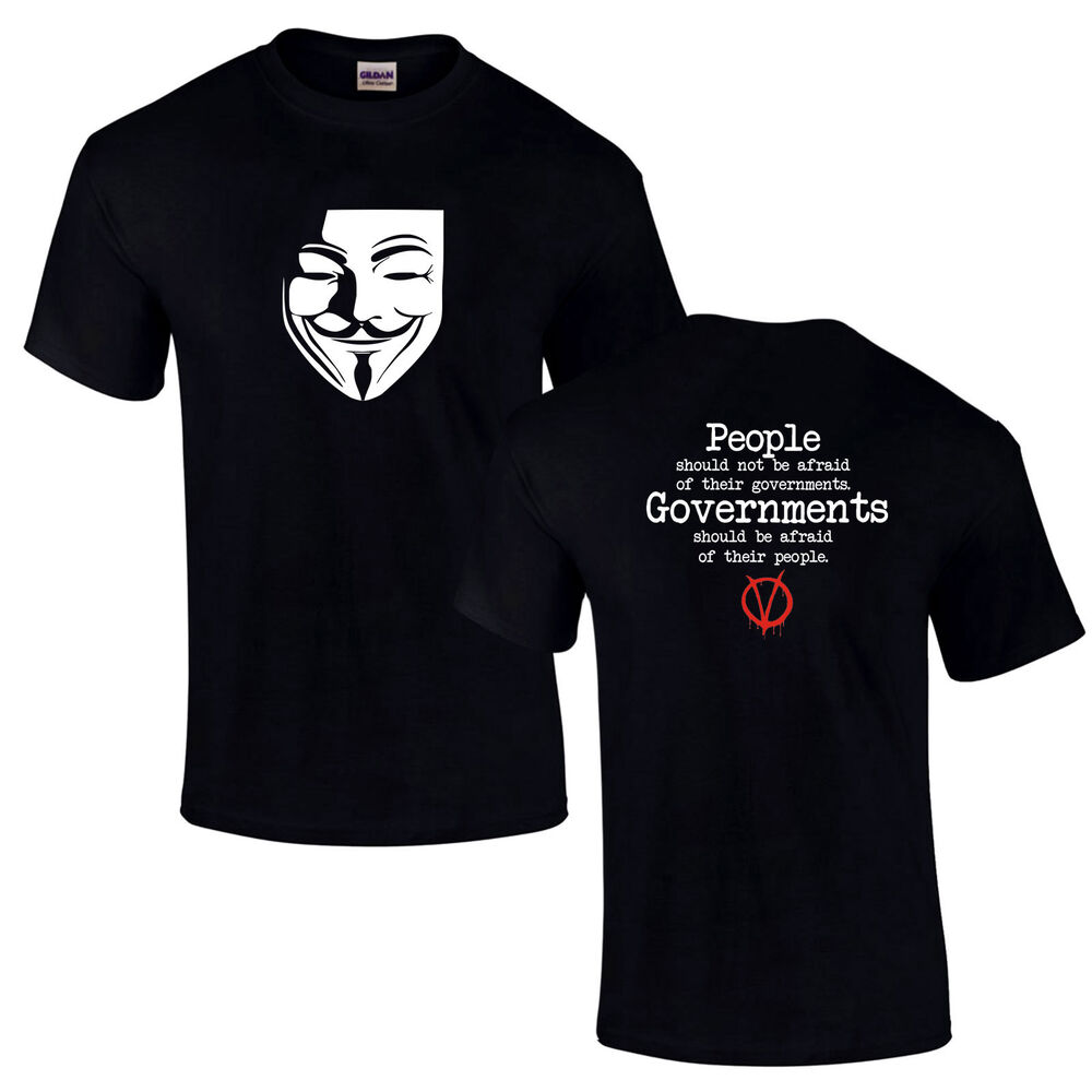 bae97bf0 Details about V Anonymous For T-Shirt Vendetta We Are Legion Anarchy Anti  Government Brexit