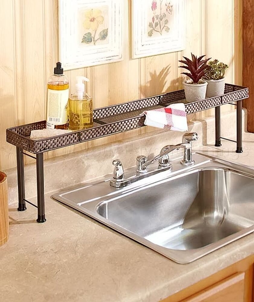 Over The Sink Shelf Kitchen Bathroom Storage Space Home