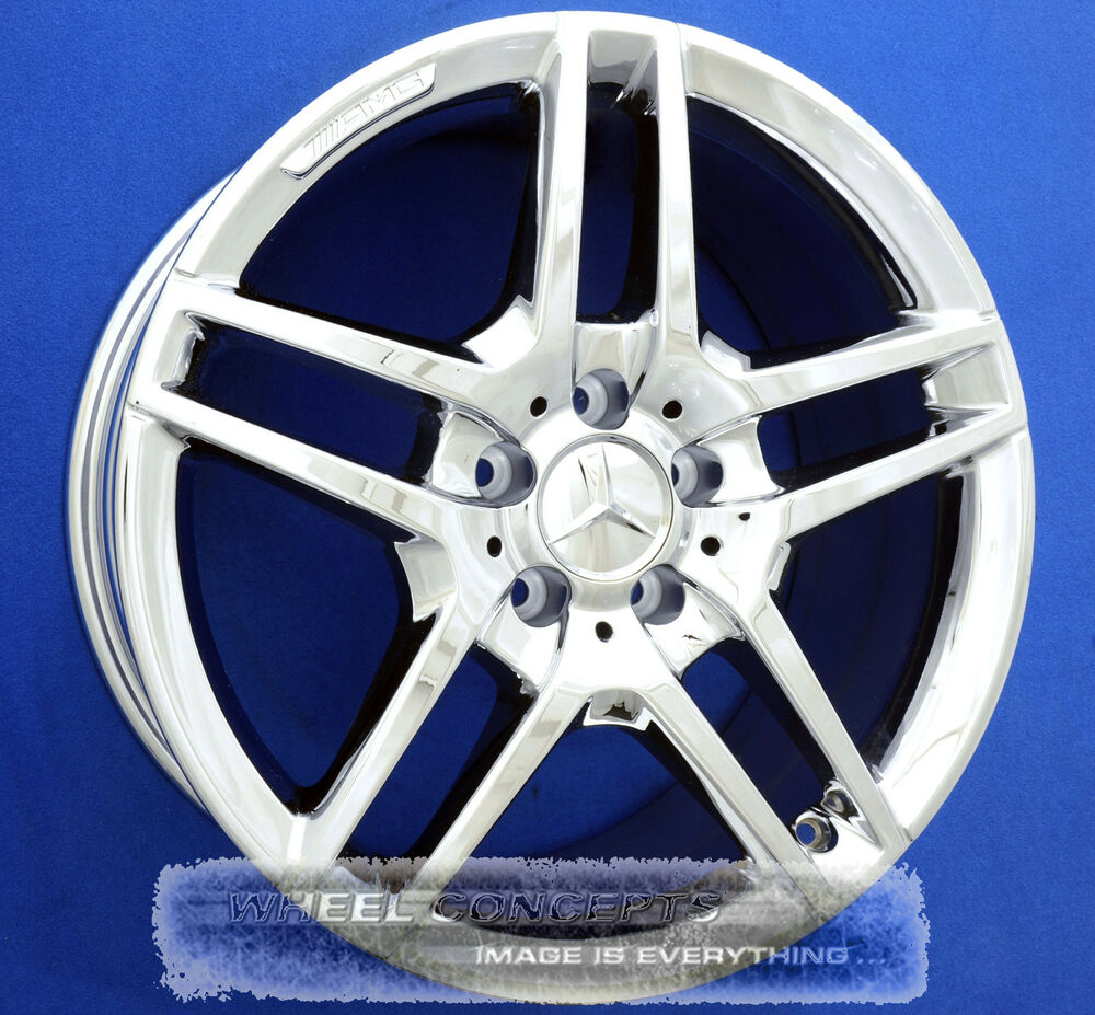 Mercedes e350 e550 sedan rwd 18 inch amg chrome wheel for Chrome rims for mercedes benz