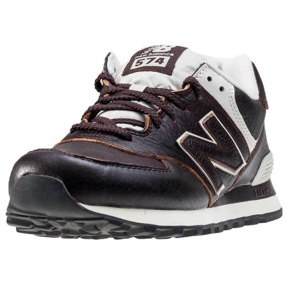 new balance ml574 mens trainers dark brown new shoes ebay. Black Bedroom Furniture Sets. Home Design Ideas