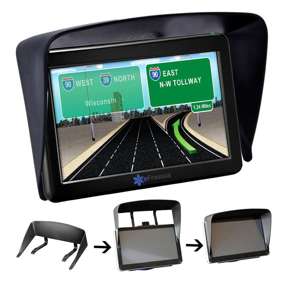 5 sun shade glare visior shield for 5 inch gps navigation. Black Bedroom Furniture Sets. Home Design Ideas