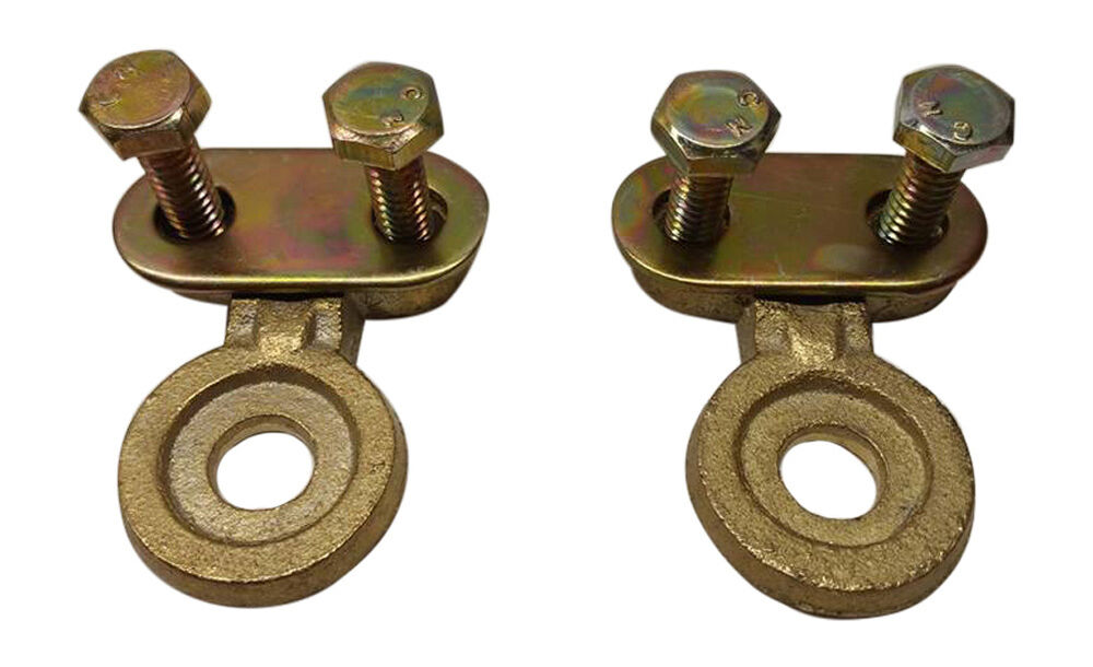 2x Solid Brass Side Post Battery Cable Terminal Wire