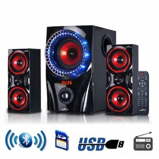 befree sound bfs 99x 2 1 channel surround bluetooth home theater speaker system ebay. Black Bedroom Furniture Sets. Home Design Ideas