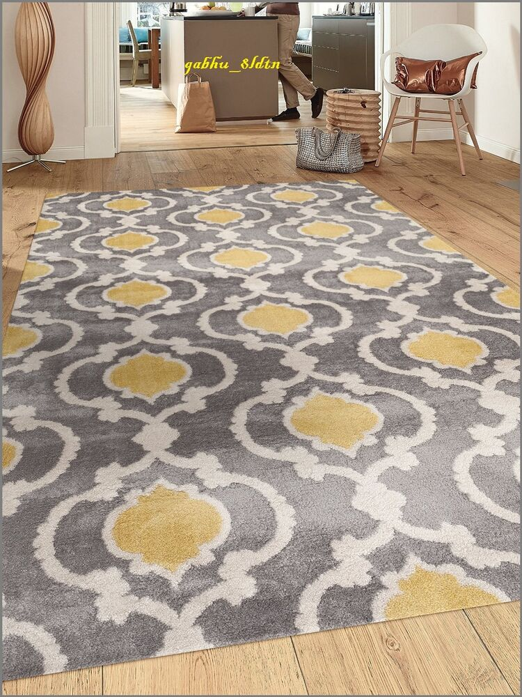 Gray and yellow rug moroccan trellis contemporary modern - Wandspiegel groay modern ...