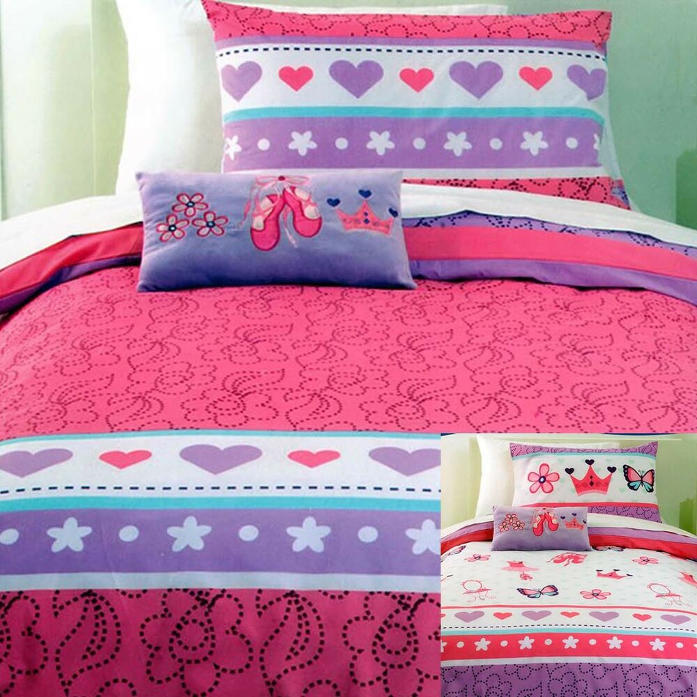 Little Ballerina Duvet Doona Quilt Cover Set Reversible