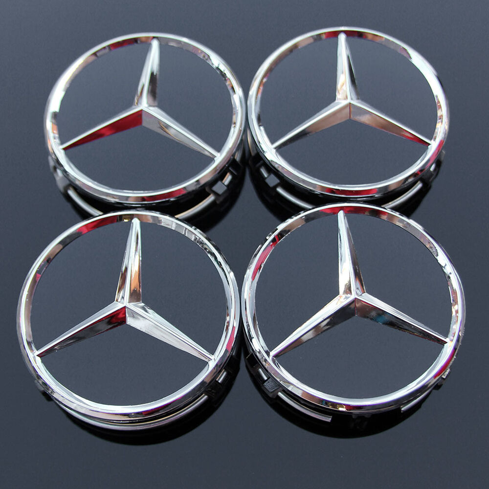 4x mercedes benz classic 75mm wheel centre caps alloy for Mercedes benz mag wheels