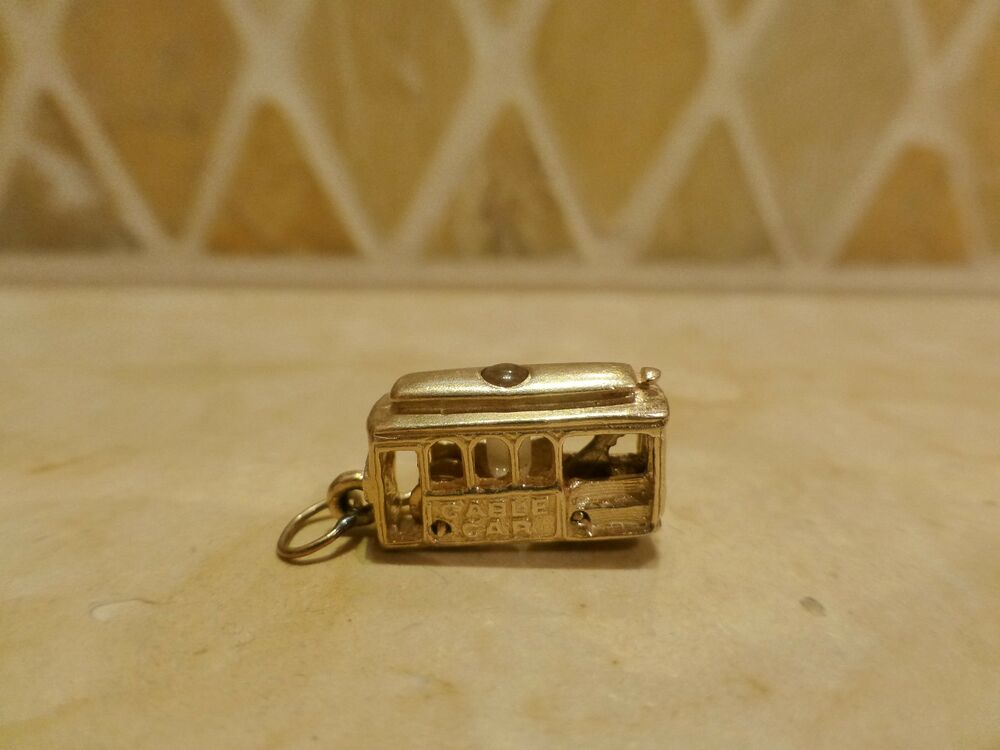 Vintage 14k Gold San Francisco Cable Car Charm Stanhope