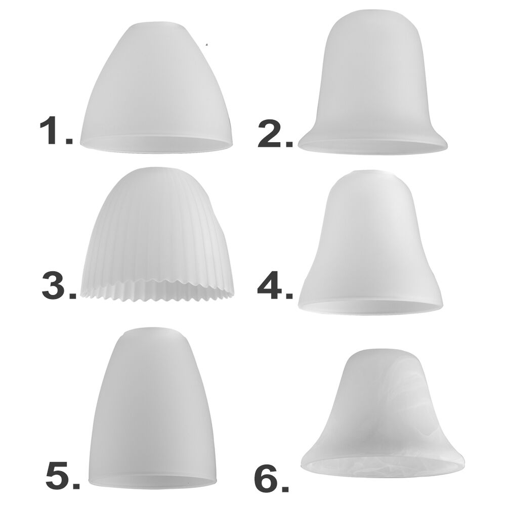 Replacement Glass Shades For Wall Lights : Set of 3 White Glass Domed Ceiling Light Pendant Shades Replacement Lamp Frosted eBay