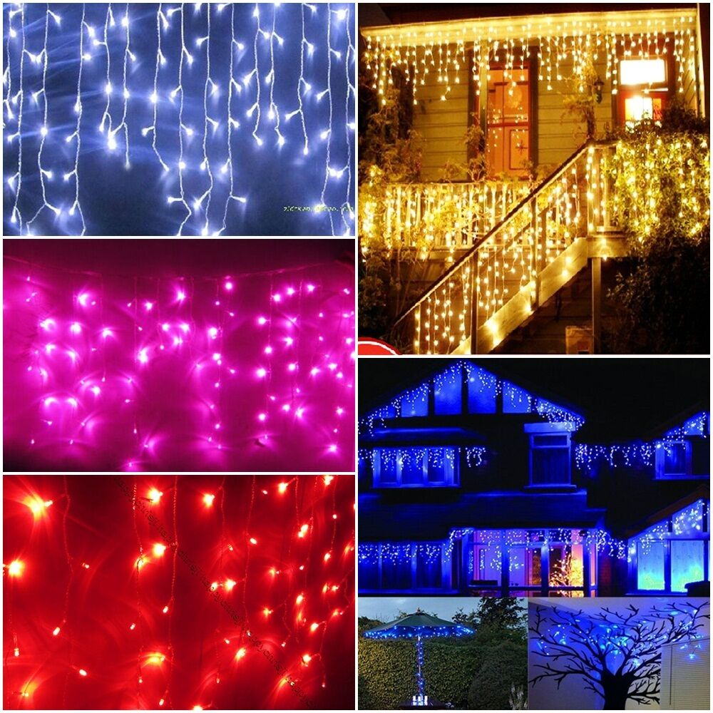 3m 100 leds warm white blue pink red party christmas. Black Bedroom Furniture Sets. Home Design Ideas