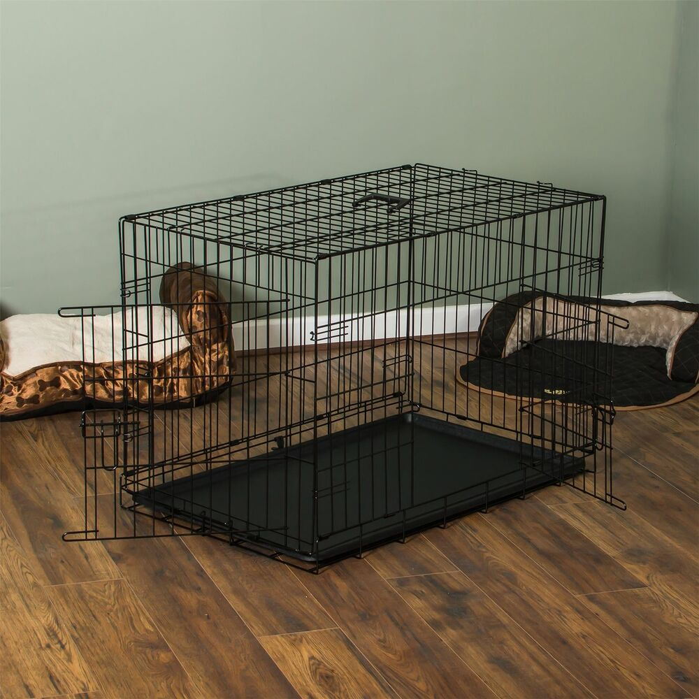 Pet Cage Dog Cat Puppy Training Folding Crate Animal