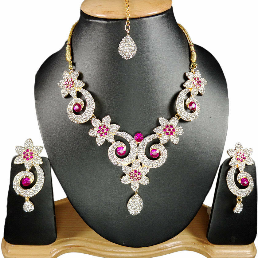 Indian Jewellery And Clothing: Handmade Bollywood Wedding Party Jewelry Fashion Necklace