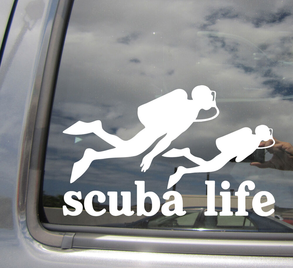 Details about scuba life dive diving car auto window vinyl die cut decal sticker 04001