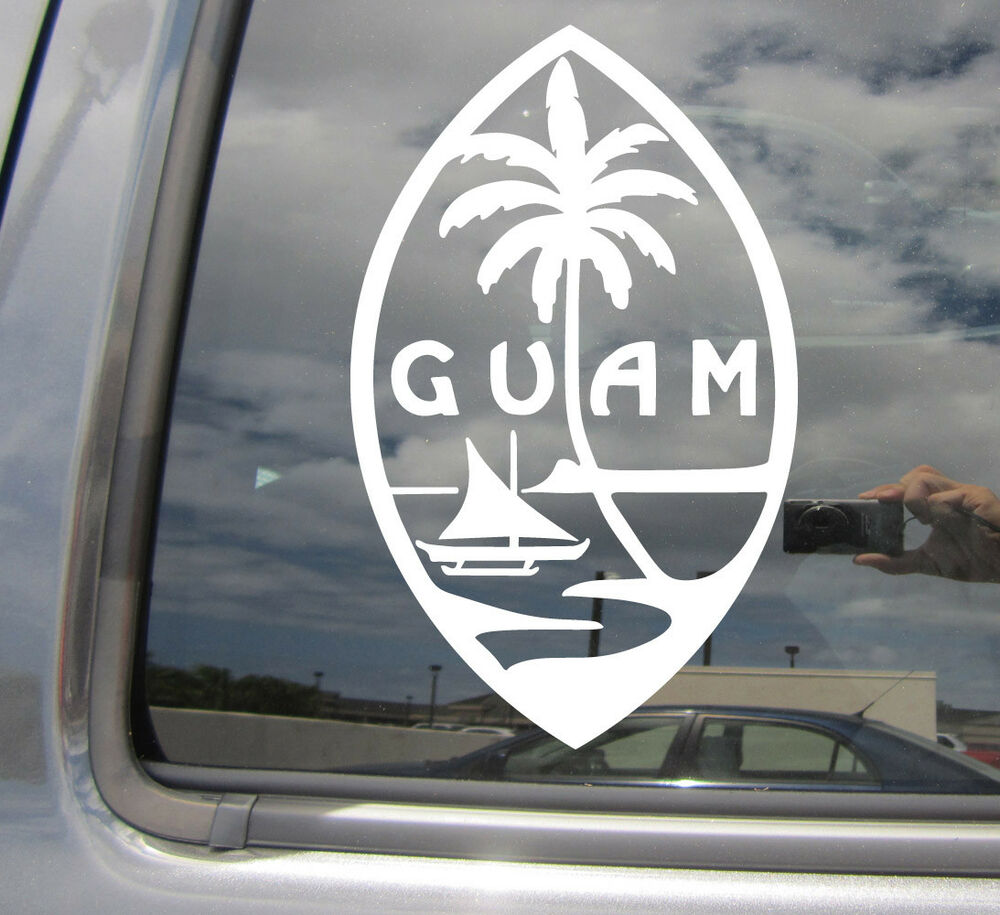 Details about guam island seal chamorro chamoru native vinyl die cut decal sticker 07101