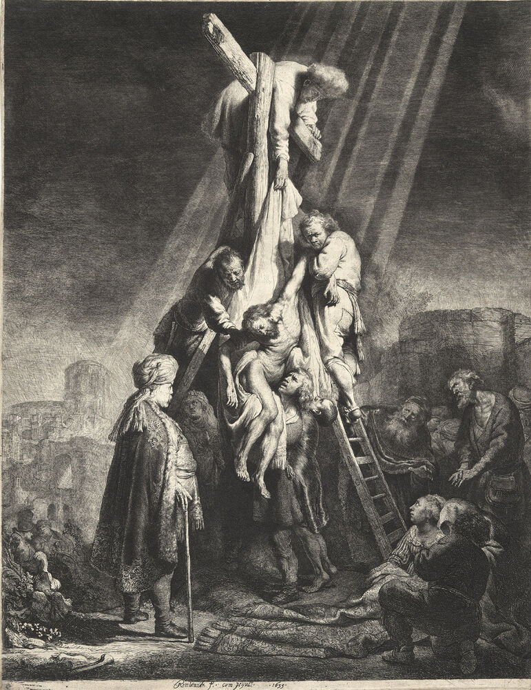 Rembrandt Etching Reproductions: The Descent from the ...