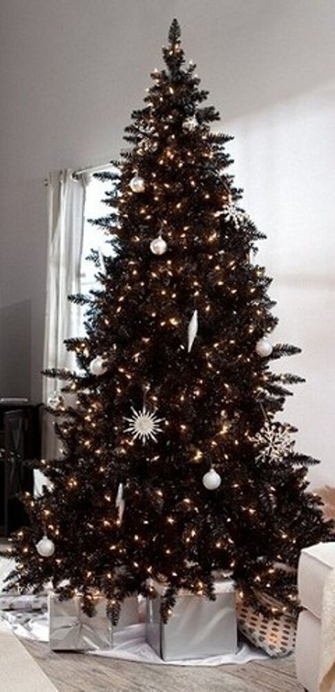 Pre Lit 6 5 Madison Pine Artificial Christmas Black Tree