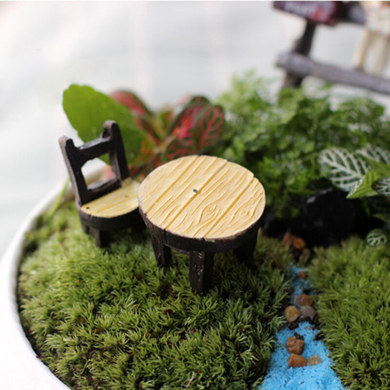 Miniature desk chair resin fairy garden craft