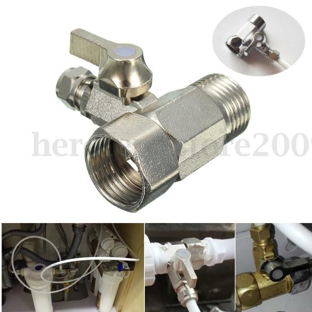 Ro Feed Water Filter Adapter 1 2 Quot To 1 4 Ball Valve