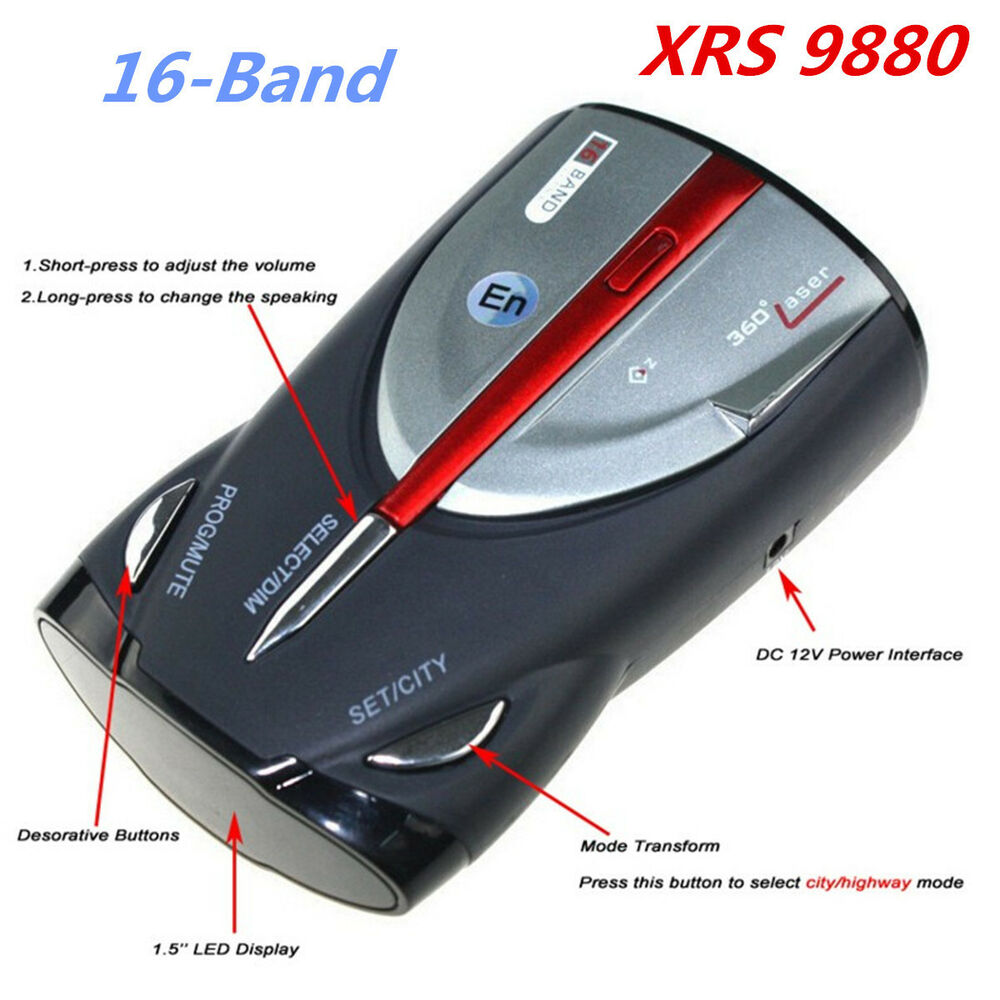 16 band radar detector cobra xrs 9880 laser anti radar detectors for car driving ebay. Black Bedroom Furniture Sets. Home Design Ideas